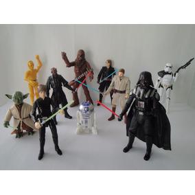 Kit 10 Bonecos Star Wars Articuláveis 17,5 Cm - Darth Vader