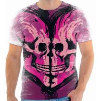 Camiseta, Camisa Caveira Amor Beijo Love Kiss Skull 163
