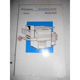 Manual De Usuario Fotocopiadora Pitney Bowes D640 Como Nuevo