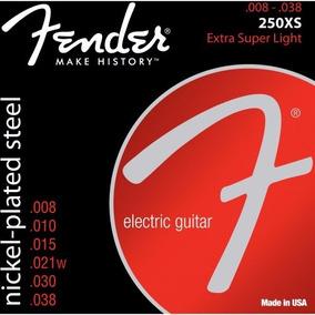 Encordoamento Para Guitarra Aço 0.08 250xs Niquelado Fender