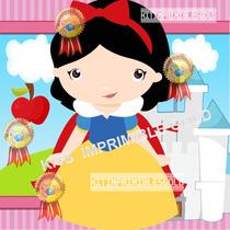 Kit Imprimible Princesa Blancanieves Baby Invitaciones Y Mas