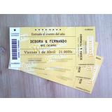Tarjeta Ticketek Entrada Evento Casamiento Invitacion 15años