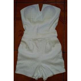 Enterizo Strapless Short Strech Formal Casual T= M/l Verano