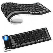 Teclado Bluetooth Enrollable De Silicón