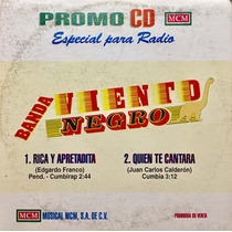 Cd Banda Viento Negro Rica Y Apretadita Promo Usado