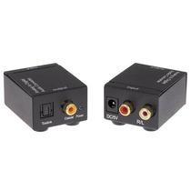 Convertidor De Audio Análogo Rca A Óptico Y Coaxial Digital