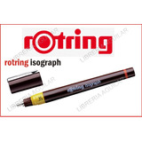 Rotring Isograph - Estilografo Recargable Punteras De Dibujo