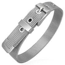 Pulsera De Acero Inox Diseño Cinturon De Malla 10mm