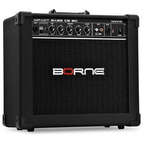 Amplificador Borne Impact Bass Cb60 20w Para Baixo