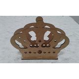 Porta Guardanapo Mdf Cru Coroa Princesa Rei Festa Enfeite
