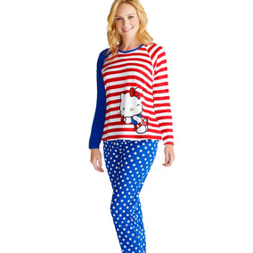 Conjunto Pijama Pantalon Estampado M/larga N4630 Vicky Form