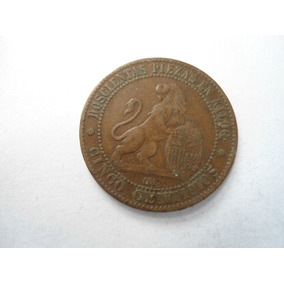 España 5 Centimos 1870 Moneda Excelente