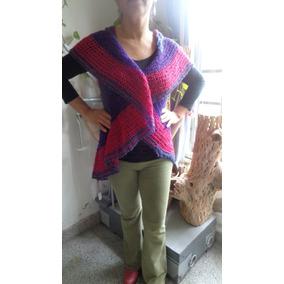 Chaleco De Lana Tejido Al Crochet
