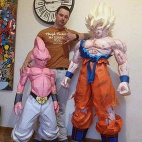 Estatua Goku Dragon Ball Z Tamanho Real Projeto Papercraft