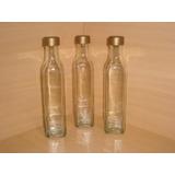 Botella De Vidrio 250cc. Con Tapa Licores Aceite Souvenir