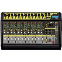 Mesa De Som Amplificada 12 Canais 500w Vz-120a Ii - Skp