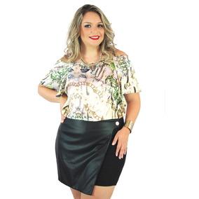 Blusa Realist Plus Size Ciganinha Roupa Gordinha