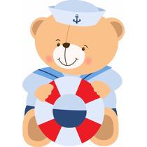 Kit De Decoração Urso Marinheiro P/ Montar Lembrancinha