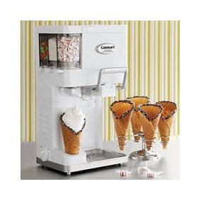 Maquina Para Hacer Helados Nieve Yogurt Cuisinart Blanca