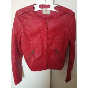 Jaqueta Vermelha Feminina Couro Ecológico
