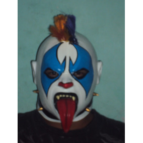 Wwe Cmll Aaa Mascara De Luchador Psycho Clown P/adulto Latex