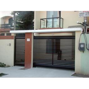Portão Alumínio Garagem Deslizante Bronze 2.10 X 2.50