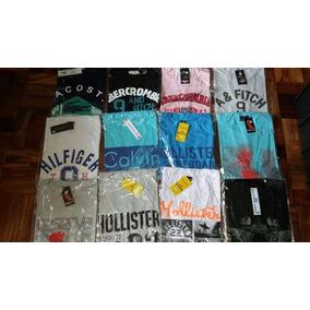 Kit C/ 10 Camisetas / Camisas De Malha Penteada Fio 30
