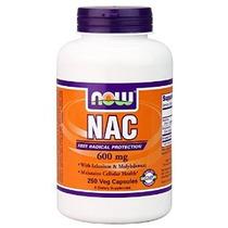 Now Foods Nac-acetil Cisteína 600 Mg 250 Vcaps