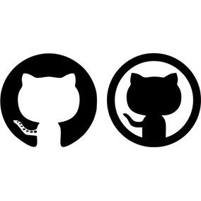 Adesivo Logotipo Github Notebook 5x4 Cm