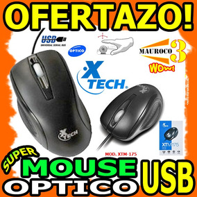 Mouse Usb Xtech Optico Para Pc Laptop Con Scroll Wow
