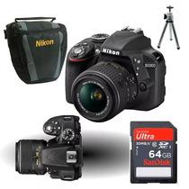 Câmera Nikon D3300 18-55mm+64gb Cl10+bolsa+tripé+kit Lp