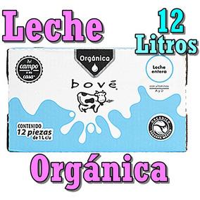 Leche Orgánica 12 Litros Caja Tetra Deslactosada Entera Vaca