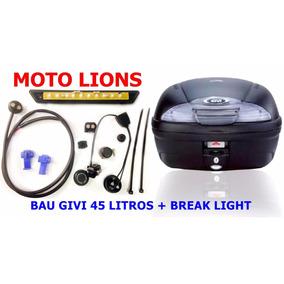 Bau Bauleto Givi 45 Litros E-450n + Break Light Moto Lions