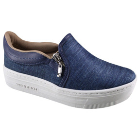Sapatilha Via Marte Slip On - Jeans