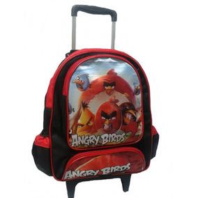 Mochila Escolar Infantil Angry Birds Com Rodinhas Tam (g)