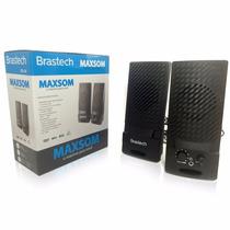 Caixa De Som Maxsom Usb Zr-50