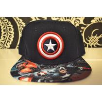 Gorra Snapback Capitan America Marvel 100% Original