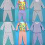 Pijamas Pantalon Largo Estampadas Para Niñas En Algodon