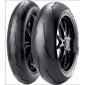 Jogo Pneu Moto 120/70-17+190/55-17pirelli Diablo Super Corsa