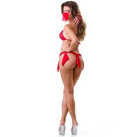 Lingerie Fantasia Mini Odalisca-safada Sexy Tamanho Único