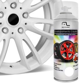 Spray Líquido Envelopamento Branco Fosco Fácil Remoção