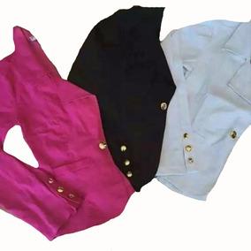 Kit Blazer Feminino Colorido Bengaline Terninho Fashion Slim