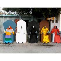 Santa Muerte Bulto Imagen Tañaño Real
