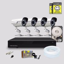 Kit Segurança Dvr Stand Alone 4 Canais + 1 Hd 4 Câmera Infra