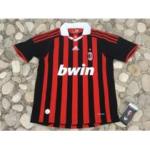 Jersey Ac Milan Italia Local Infantil Niño 2009-2010 Adidas