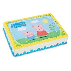 Peppa Pig Imagen Comestible De La Torta