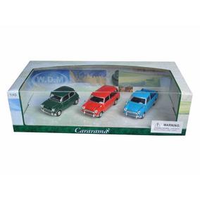 Hot Wheels Cararama 1:43 Mini Cooper Set 3 Pzas Envio Gratis