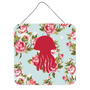 Medusas Elegante Lamentable De Las Rosas Azules En Pared O P