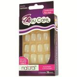 Youcare Kit Unhas Naturais Com Cola - 36 Unidades - Quadrado