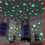 Kit Estrelas Fluorescente Neon Para Teto De Quarto Crianças